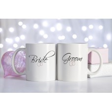 Bride or Groom Ceramic Mug (Wedding Rings)